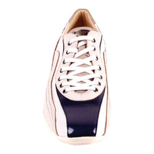 Men's GooDoo Classic 007 White/Navy/Red Leather - Thumbnail 1