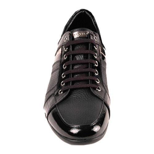 Men's GooDoo Classic 009 Black Leather/Black/Gold Patent Leather - Thumbnail 1