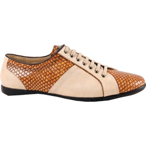 Men's GooDoo Luxury 003 Camel Calf Leather/Brown Anaconda Print Leather