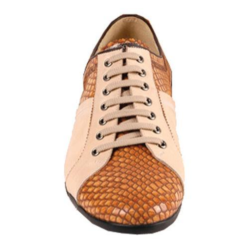 Men's GooDoo Luxury 003 Camel Calf Leather/Brown Anaconda Print Leather - Thumbnail 1