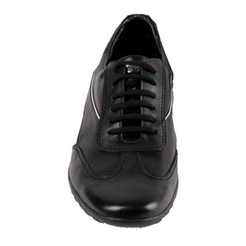 Men's GooDoo Sporty 006 Black/White Calf - Thumbnail 1