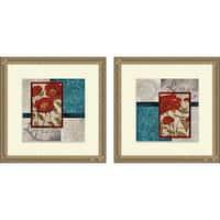 Elizabeth Medley 'Red Botanicals I & II' Framed Print