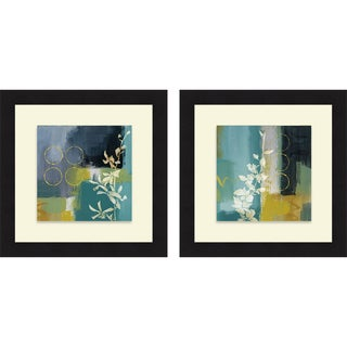 Lanie Loreth 'Mediterranean Floral I & II' Framed Print