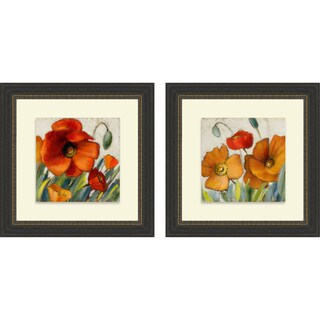 Lanie Loreth 'Poppy Splendor Square II & III' Framed Print