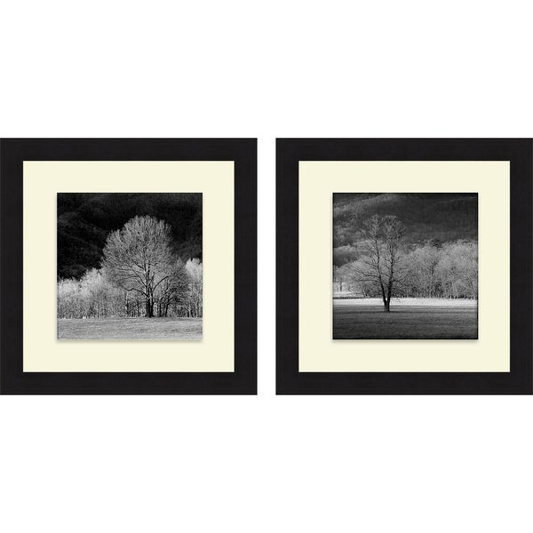 Robert Jones 'Cades Trees I & II' Framed Print