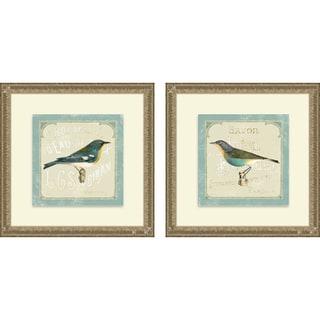Sue Schlabach 'Parisian Bird I & II' Framed Print
