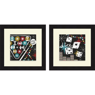 Michael Mullan 'Vegas - Pool Hall & Dice' Framed Print