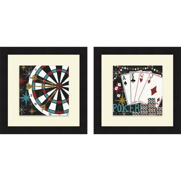 Michael Mullan 'Vegas - Darts & Cards' Framed Print