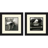 Marc Olivier 'Paris Dog I & II' Framed Print