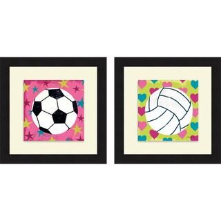 Mo Mullan 'Girls Sports III & IV' Framed Print