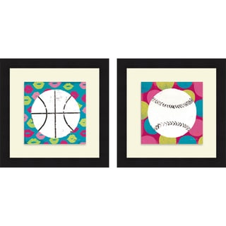 Mo Mullan 'Girls Sports I & II' Framed Print
