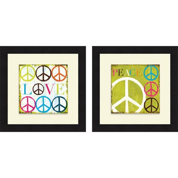 Mo Mullan 'Love & Peace' Framed Print
