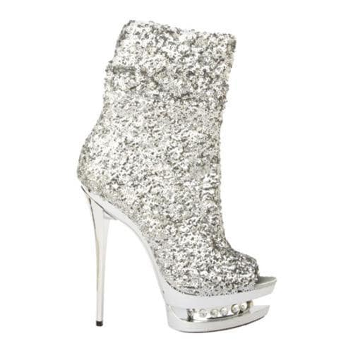 Women's Highest Heel Diamond-31 Silver Sequin - Free Shipping ...