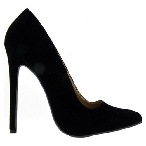 Women's Highest Heel Hottie Black Velvet Patent