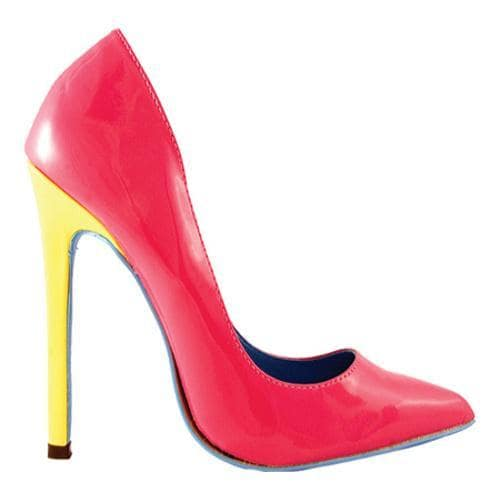 Women's Highest Heel Hottie Fuchsia Patent Mix - Thumbnail 1