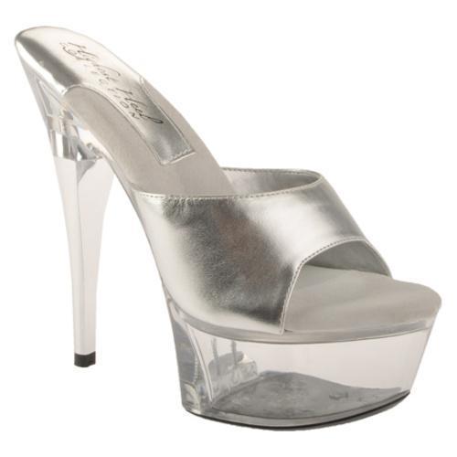 Women's Highest Heel Lover Silver Metallic