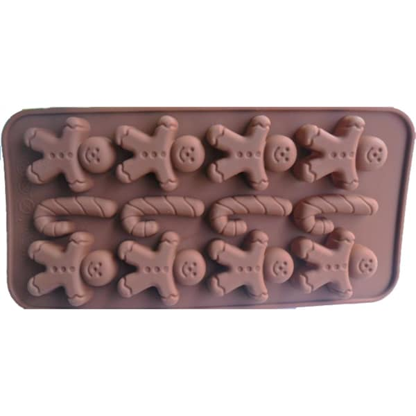 Gingerbread Cake and Chocolate Silicone Baking Mold