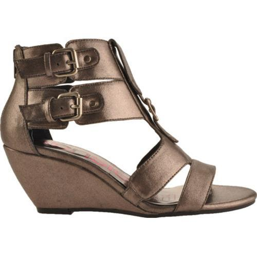 Women's Kensie Girl Delphine Pewter Metallic Faux Leather - Thumbnail 1