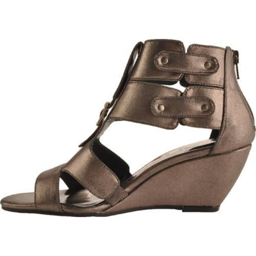 Women's Kensie Girl Delphine Pewter Metallic Faux Leather - Thumbnail 2
