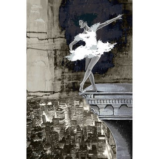 Maxwell Dickson 'Big City Of Dreams' Ballerina Canvas Art Print