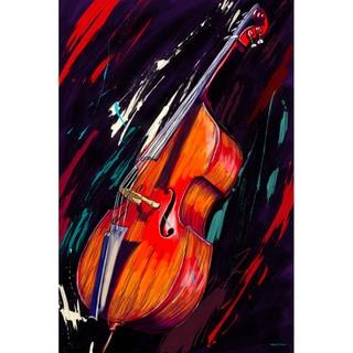 Maxwell Dickson 'Double Bass' Musical Instrument Canvas Print
