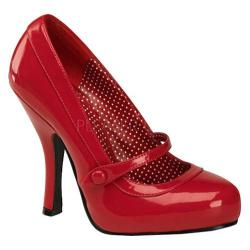 Women's Pin Up Cutiepie 02 Red Patent Leather