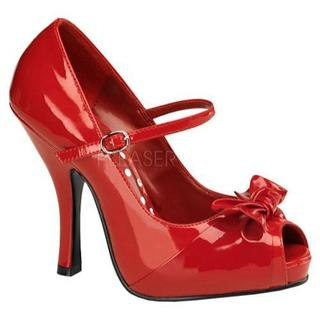 Women's Pin Up Cutiepie 08 Red Patent Leather (More options available)