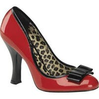 Women's Pin Up Smitten 01 Red/Black Patent Leather