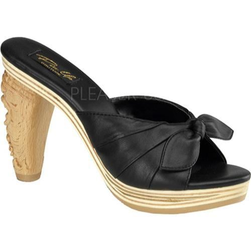 Women's Pin Up Tiki 102 Black Leather