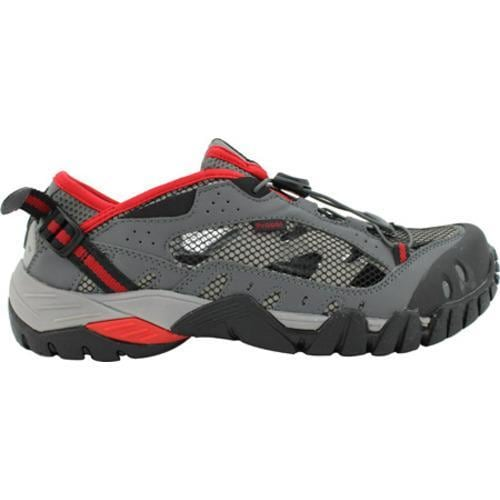Men's Propet Endurance Black/Grey/Red - Thumbnail 1
