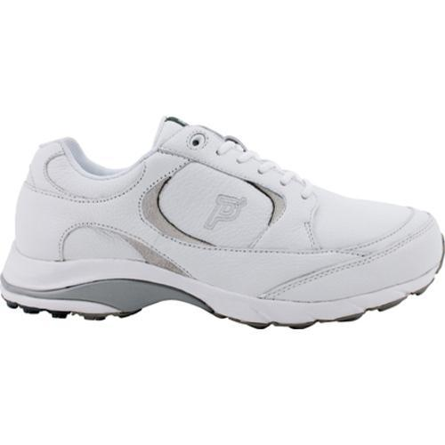 Men's Propet Journey Leather White/Grey - Thumbnail 0