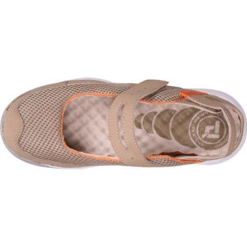Women's Propet Scamper Taupe/Orange