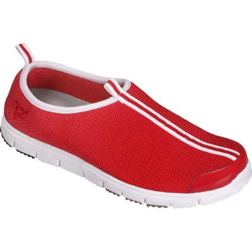 Women's Propet Travel Walker Slip-On Red Stretch Mesh