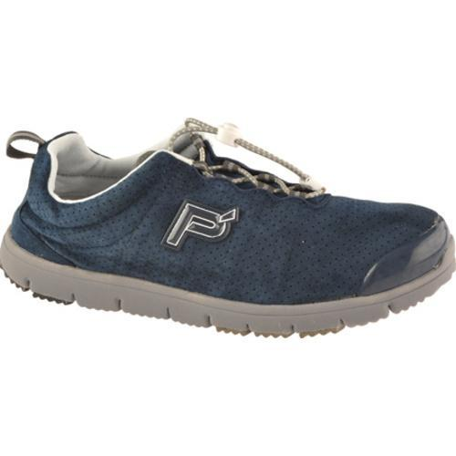Men's Propet Travel Walker Suede Indigo - Thumbnail 0