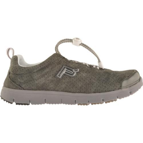 Women's Propet Travel Walker Suede Pewter - Thumbnail 1