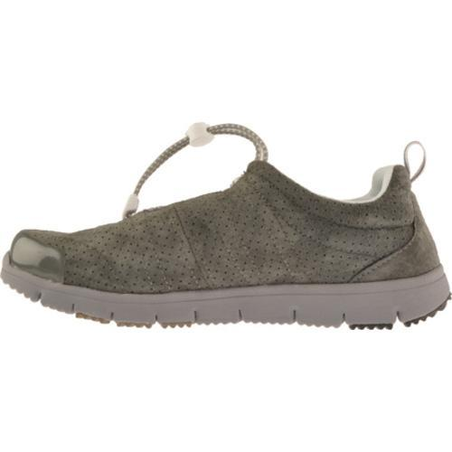Women's Propet Travel Walker Suede Pewter - Thumbnail 2