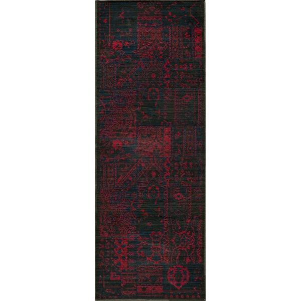 "Vintage Boaz Raspberry New Zealand Wool Rug (1'8"" x 2'8"")"