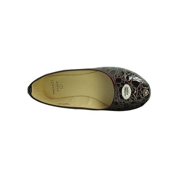 Women's Vecceli Italy BF-101 Dark Brown Compressed Leather