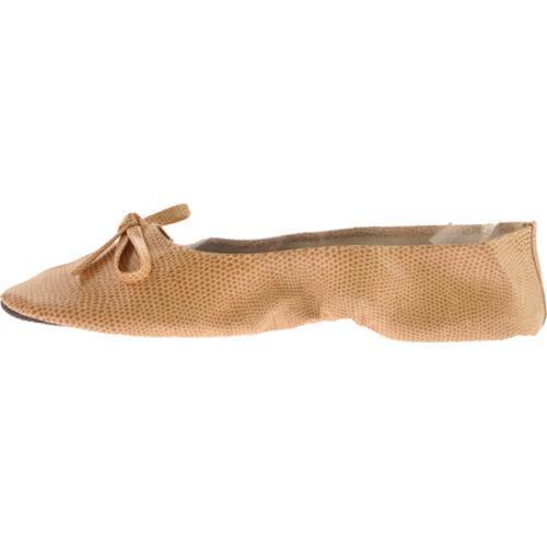 Women's Vecceli Italy FF-101 Beige Lizard Compressed Leather