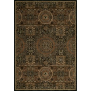 Mirage Mamluk Black Power-Loomed Rug (2' x 3')