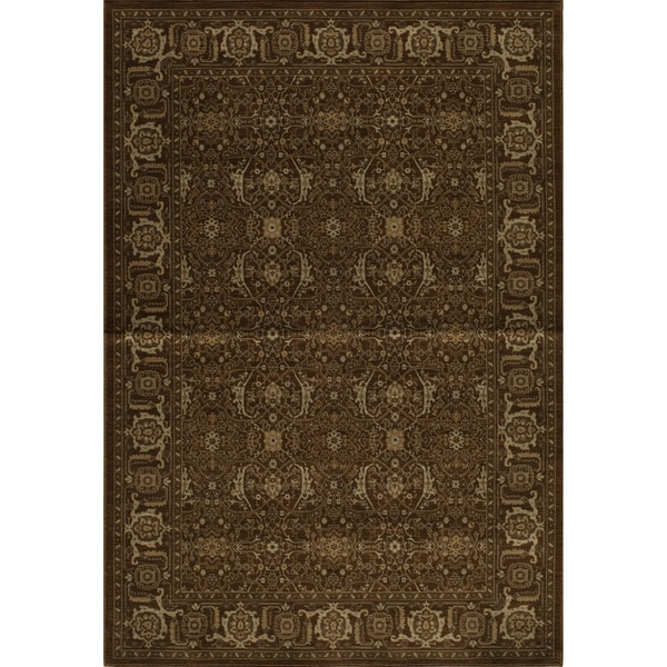 Mirage Royal Chocolate Brown Power-Loomed Rug (2' x 3')
