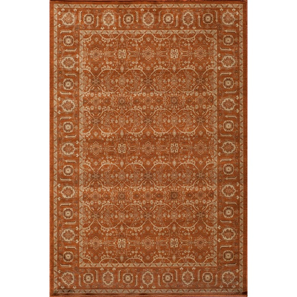 Mirage Palace Paprika Orange Power-Loomed Rug (2' x 3')