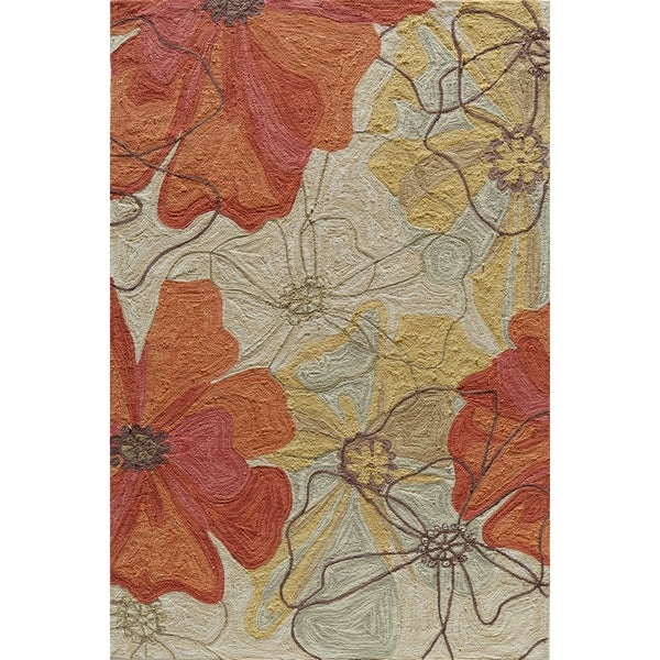 Copia Blossom Multi Hand-Hooked Polyester Rug