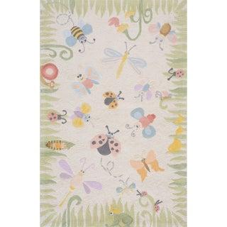 Momeni Lil Mo Classic Multicolor Springtime Fun Hand-Hooked Cotton Rug (2' X 3')