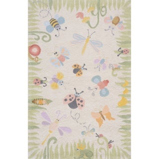 Momeni Lil Mo Classic Multicolor Springtime Fun Hand-Hooked Cotton Rug (2' X 3') (4 options available)