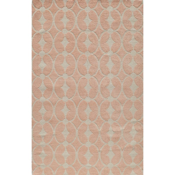 Momeni Lil Mo Classic Pink Trellis Hand-Hooked Cotton Rug (3' X 5')