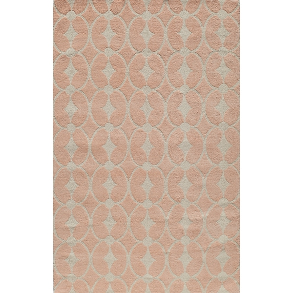Momeni 'Lil Mo Classic Trellis Pink Cotton Rug (2' x 3')