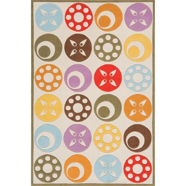 Momeni 'Lil Mo Candy Dots Ivory Rug