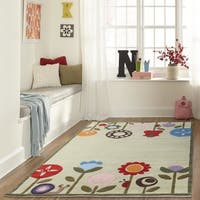 Momeni Lil Mo Whimsy Grass Modern Garden Hand-Tufted and Hand-Carved Rug (2' X 3')