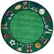 Momeni 'Lil Mo Sports Stars Green Polyester Rug (2' x 3')